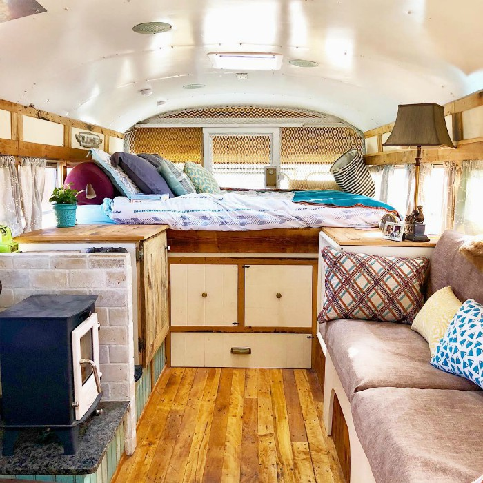 school bus conversion 1 - Retired prison bus was converted to gorgeous off-grid home
