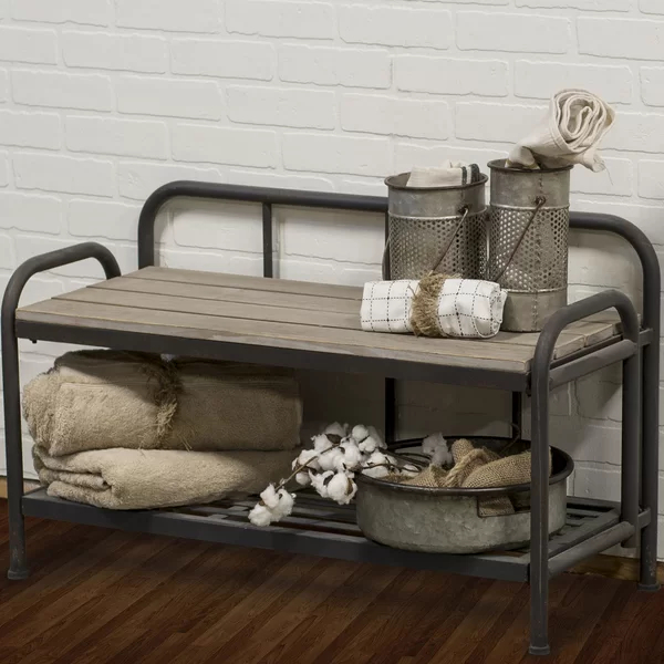 CantonMetalStorageBench - 20 chic and practical entryway benches