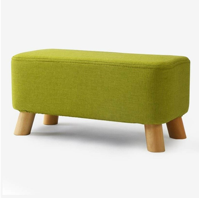 WANGJUNE Footstool Solid Wood Bench Fashion Fabric Shoe Bench Stool Stool Sofa Bench - 20 chic and practical entryway benches