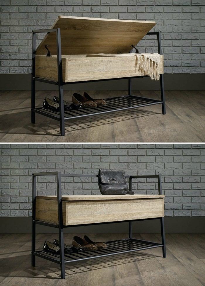shoe bench storage - 20 chic and practical entryway benches