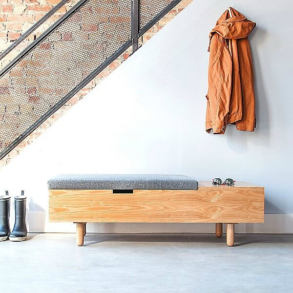 storage bench - 20 chic and practical entryway benches