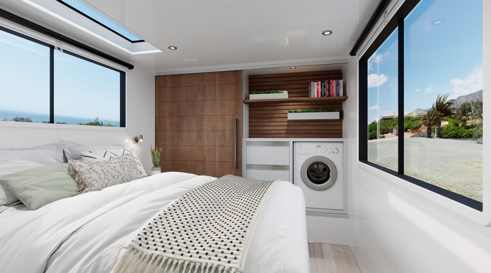 living vehicle trailer 6 - The Living Vehicle 2020 promotes luxurious off-the-grid camping