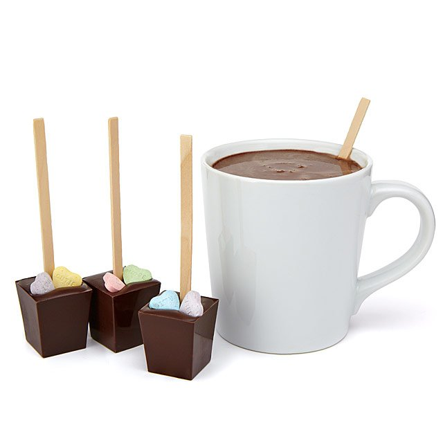 Valentine Hot Chocolate on a Stick - Eight brilliant gift ideas for Valentine's day