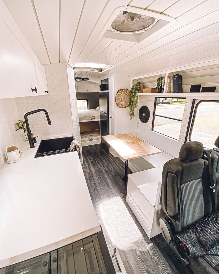 skoolie family 4 - $5,000 school bus converted into a comfortable home for family of four