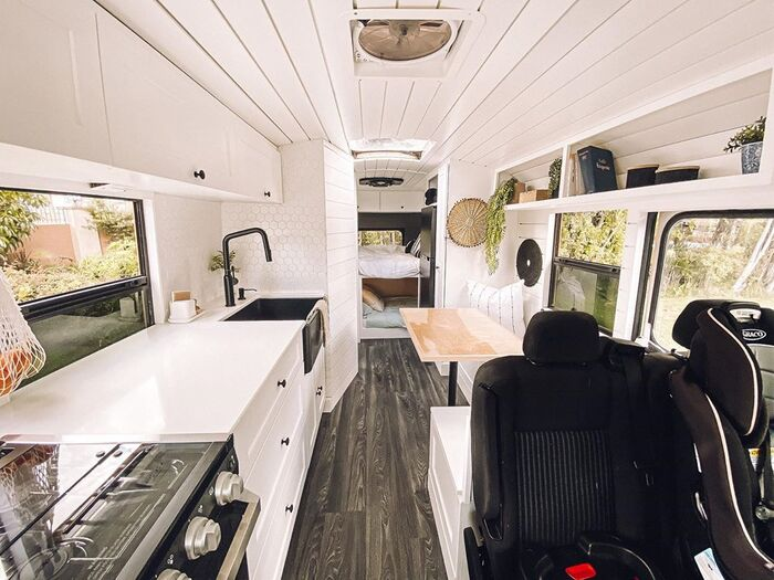 skoolie family 9 - $5,000 school bus converted into a comfortable home for family of four