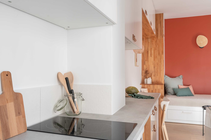 tiny french studio 10 - Tiny worn-out 14m2 studio transformed into cosy abode