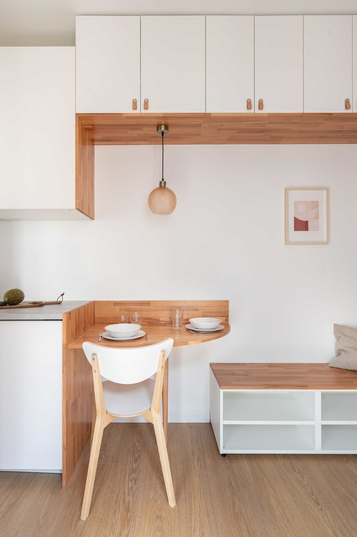 tiny french studio 2 - Tiny worn-out 14m2 studio transformed into cosy abode
