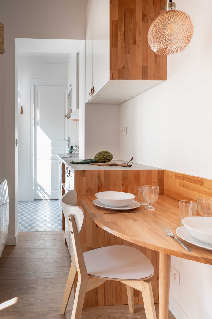 tiny french studio 9 - Tiny worn-out 14m2 studio transformed into cosy abode