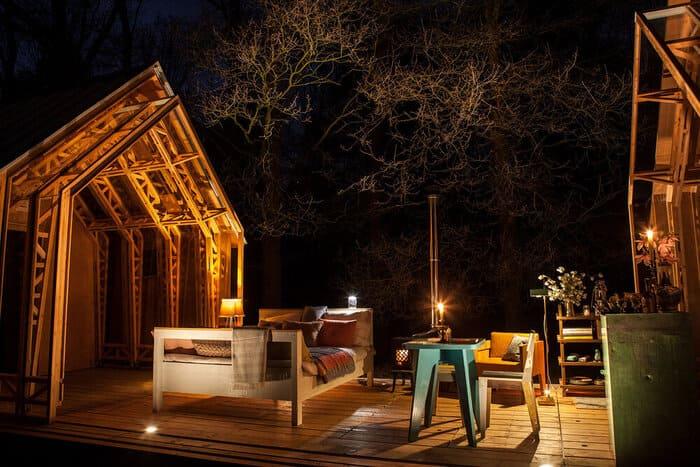 cabin slides apart 16 - Sliding walls make this Dutch cabin a transforming wonder
