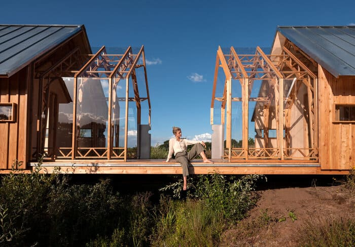 cabin slides apart 21 - Sliding walls make this Dutch cabin a transforming wonder