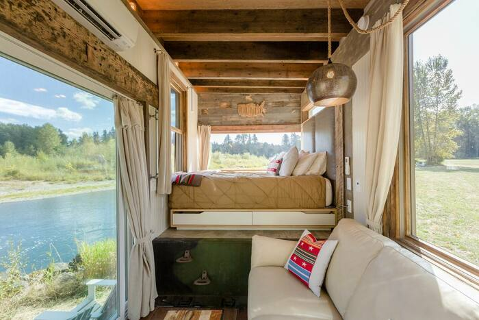 Tiny River House on Clackamas River 2 - These 10 Airbnb tiny houses let you experience compact living in style