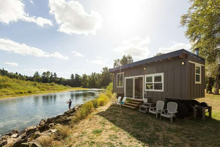 Tiny River House on Clackamas River - These 10 Airbnb tiny houses let you experience compact living in style