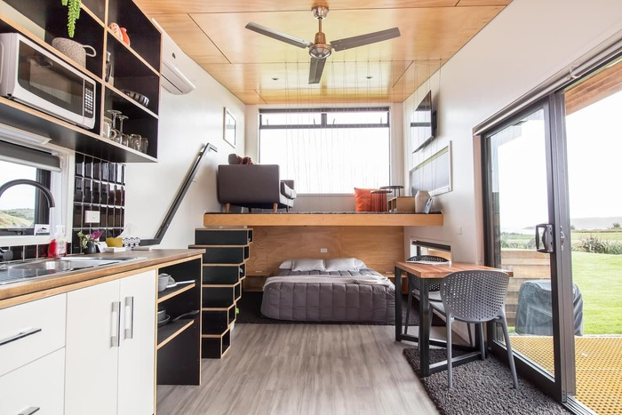 Tiny house west coast new zealand 4 - These 10 Airbnb tiny houses let you experience compact living in style