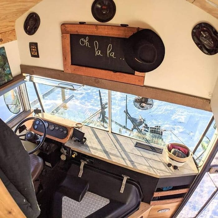 school bus conversion olly 10 - This school bus conversion is farmhouse style goals