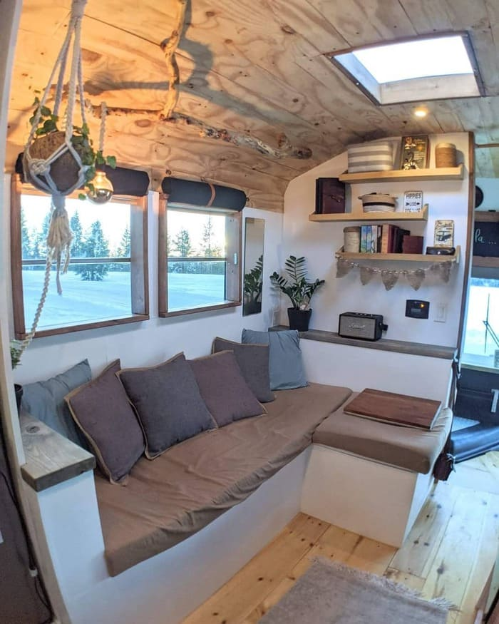 school bus conversion olly 14 - This school bus conversion is farmhouse style goals