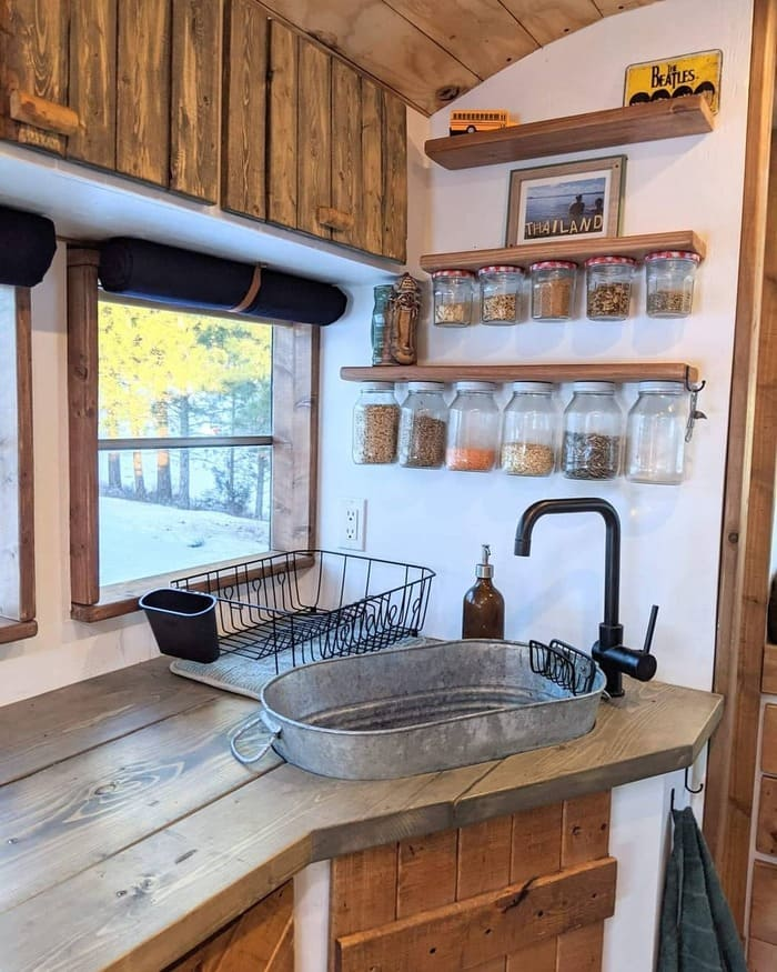 school bus conversion olly 15 - This school bus conversion is farmhouse style goals