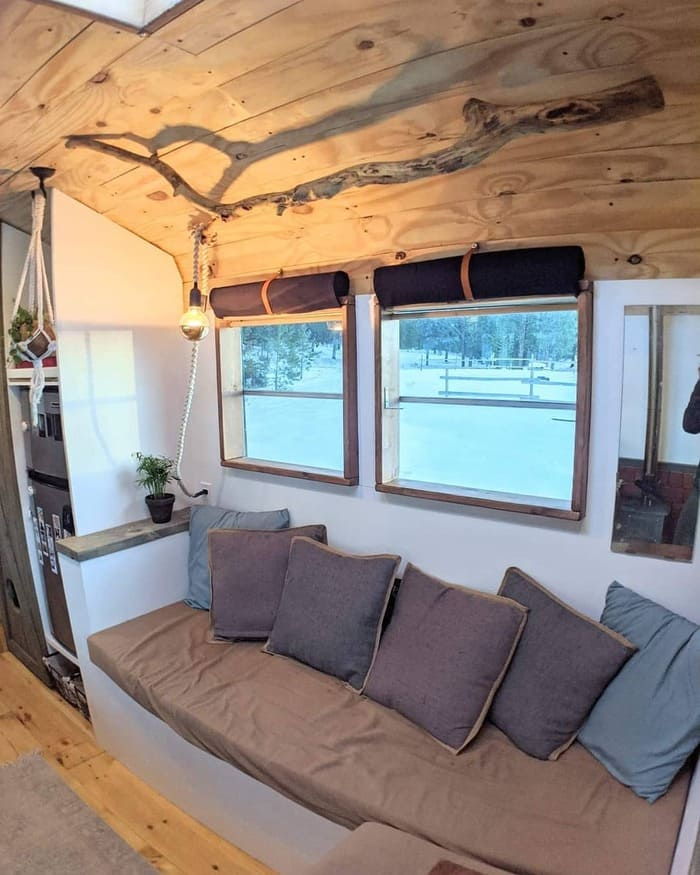 school bus conversion olly 16 - This school bus conversion is farmhouse style goals