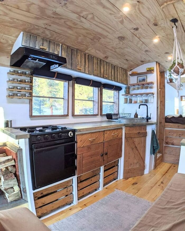 school bus conversion olly 8 - This school bus conversion is farmhouse style goals