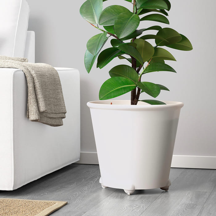 ikea ps fejoe self watering plant pot white  0900202 PE588608 S5 1 - Plant killer rehabilitation: 24 self-watering ideas