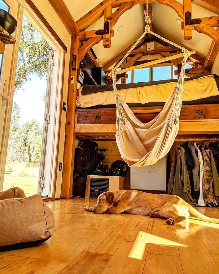 120539840 388450815495908 520934844137080014 n - Couple built tiny house entirely from scratch - even milling their own lumber