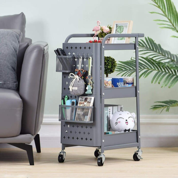 3 TierStorageRollingCart 1 - Add gorgeous storage to your home with these 25 rolling carts