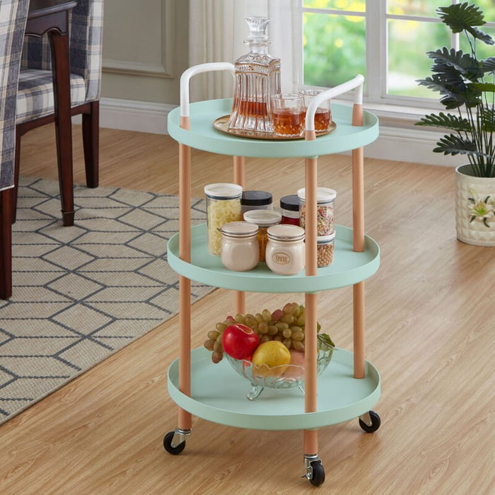 3 tierUtilityRollingCartStorageTrolley2CRoundBasket - Add gorgeous storage to your home with these 25 rolling carts