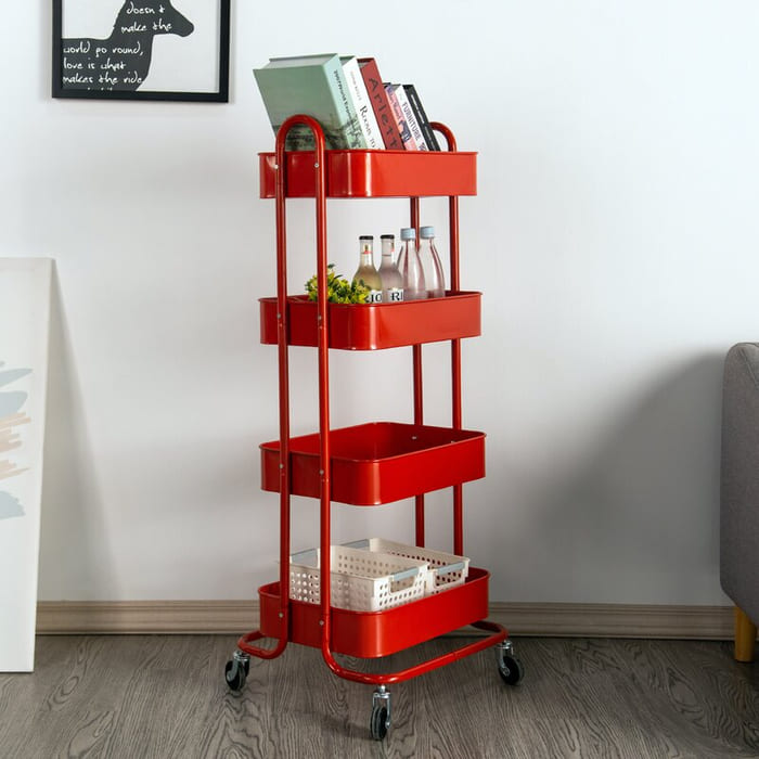 4TierMetalRollingUtilityCart - Add gorgeous storage to your home with these 25 rolling carts