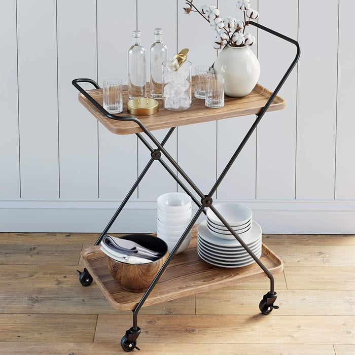 81IsWOv2vL. AC SL1500  - Add gorgeous storage to your home with these 25 rolling carts