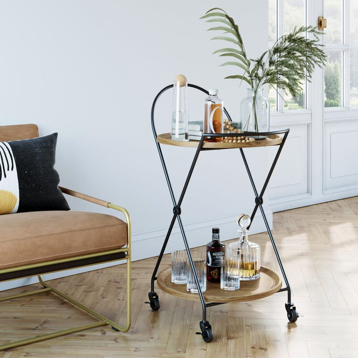 Fairport2 TierBarCart - Add gorgeous storage to your home with these 25 rolling carts