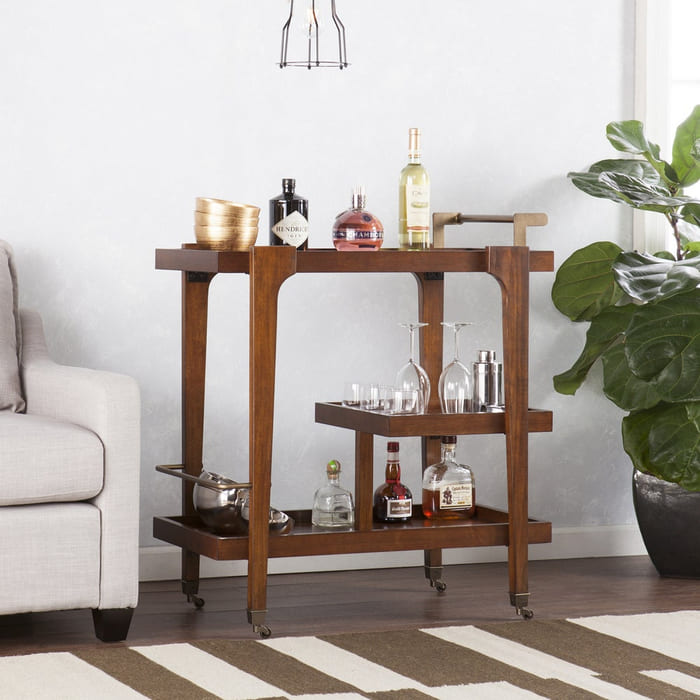 Holly Martin Zhori Midcentury Modern Bar Cart 4833f5e4 24e5 4a73 a95c c664f19d5dec 1000 - Add gorgeous storage to your home with these 25 rolling carts