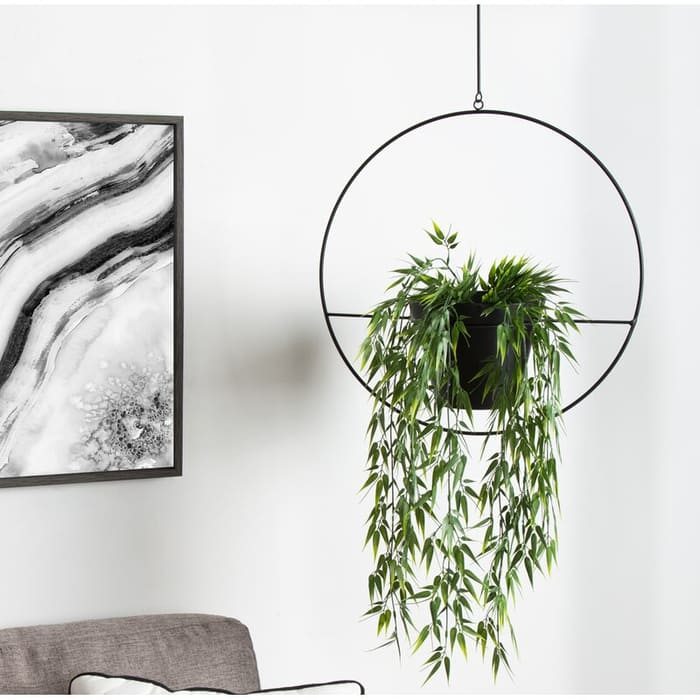 IsaiHoopMetalHangingPlanter - Give your favorite plant a fabulous makeover with one of these 25 planters