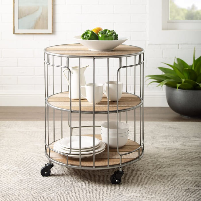 PeruAniThreeTieredRollingBarCart - Add gorgeous storage to your home with these 25 rolling carts