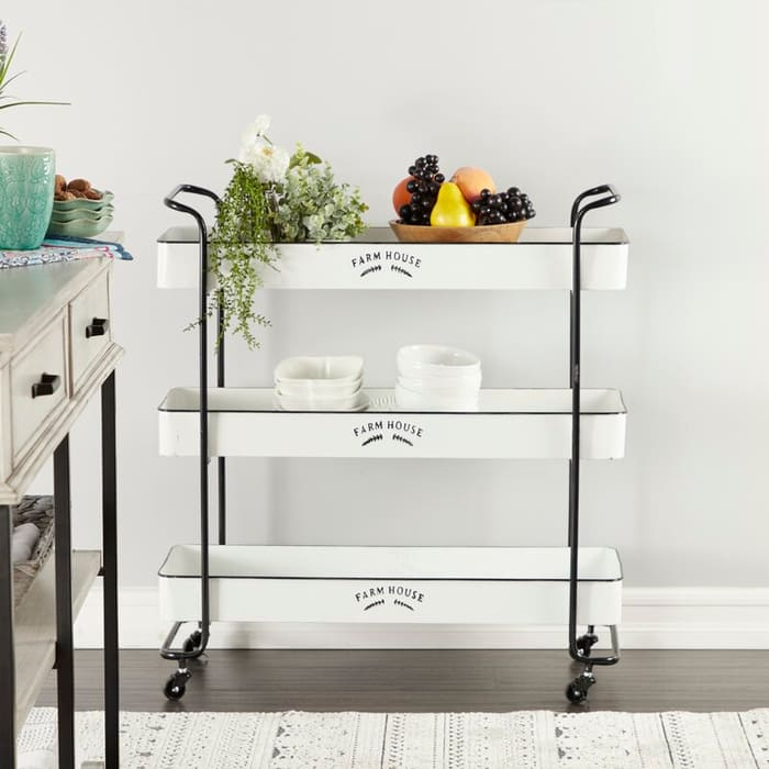 RectangularMetalCart - Add gorgeous storage to your home with these 25 rolling carts
