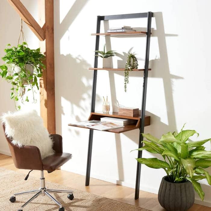 Safavieh Pamella 2 Shelf Leaning Desk - 25 gorgeous desks for your small space