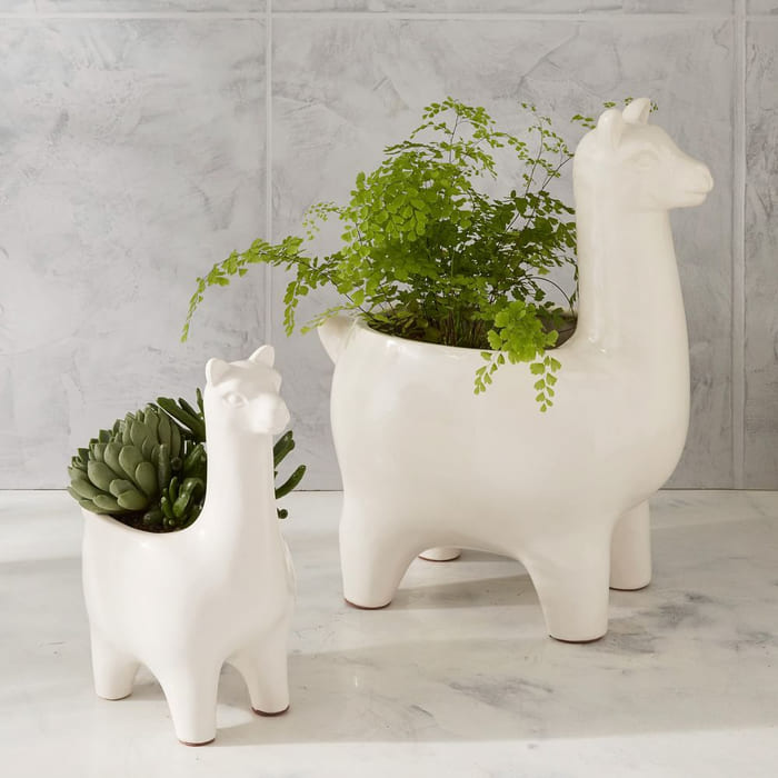 ceramic llama planters z - Give your favorite plant a fabulous makeover with one of these 25 planters