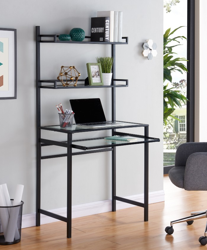 desk shelves - 25 gorgeous desks for your small space