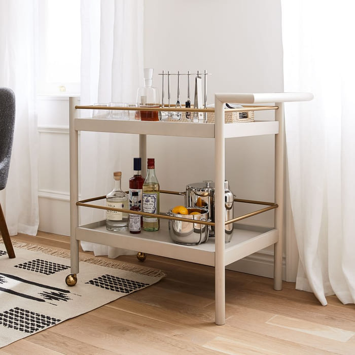 mid century bar cart pebble z - Add gorgeous storage to your home with these 25 rolling carts