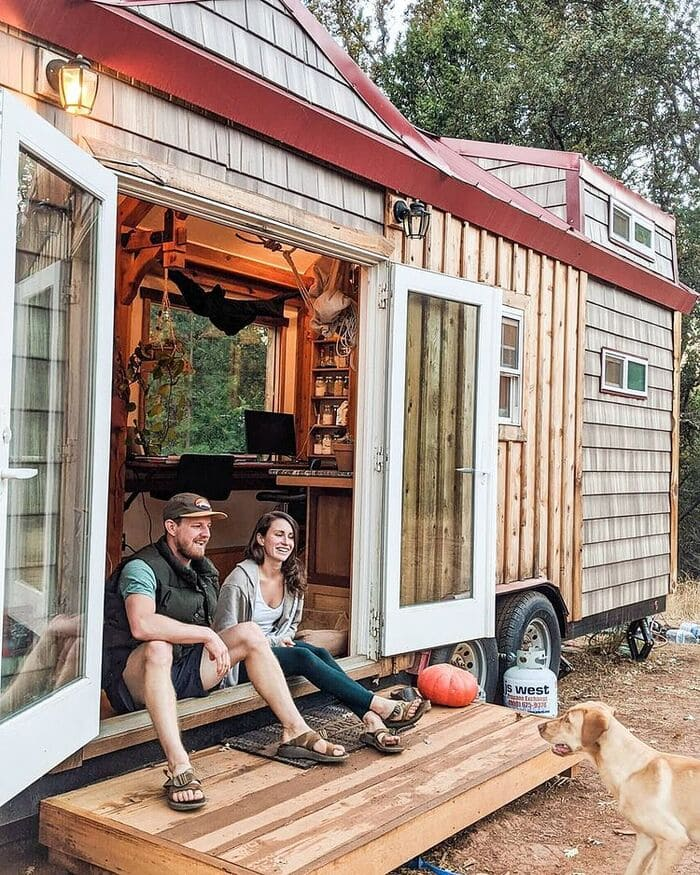 tiny home wild adventures 12 - Couple built tiny house entirely from scratch - even milling their own lumber