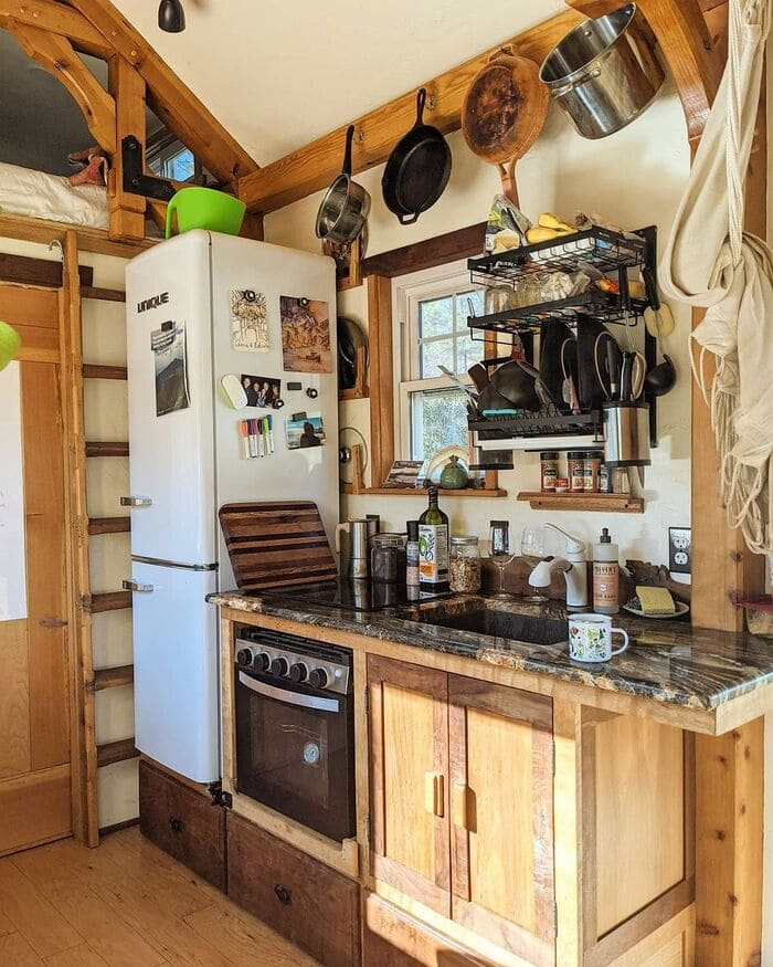 tiny home wild adventures 15 - Couple built tiny house entirely from scratch - even milling their own lumber