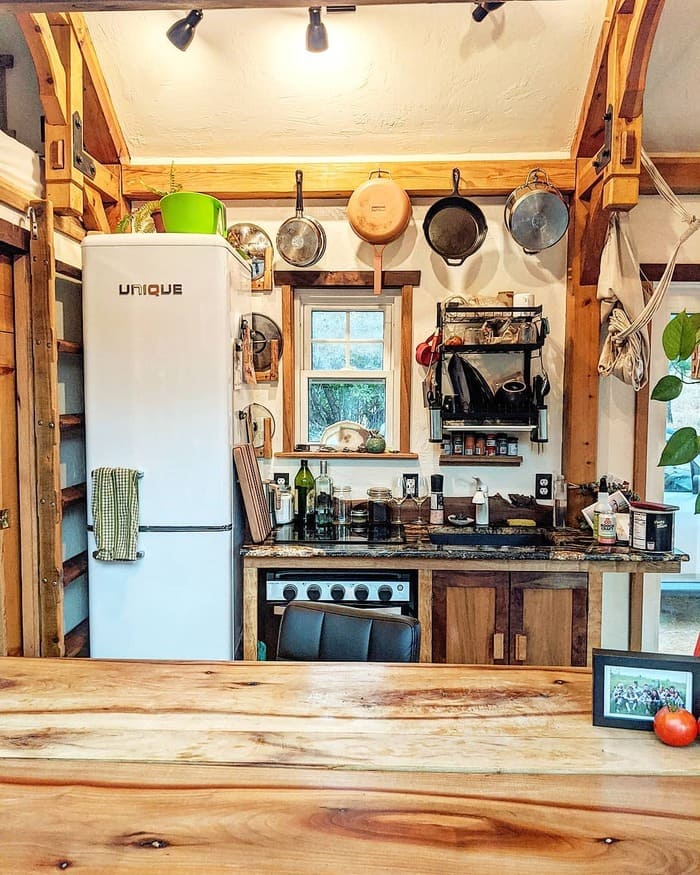 tiny home wild adventures 22 - Couple built tiny house entirely from scratch - even milling their own lumber