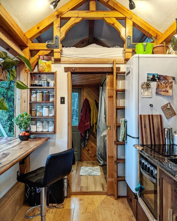 tiny home wild adventures 25 - Couple built tiny house entirely from scratch - even milling their own lumber