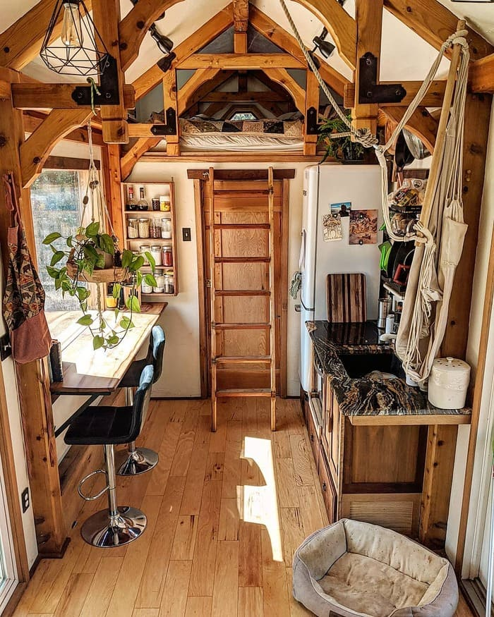 tiny home wild adventures 28 - Couple built tiny house entirely from scratch - even milling their own lumber