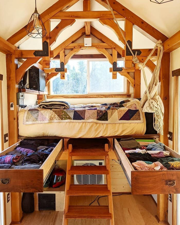 tiny home wild adventures 4 - Couple built tiny house entirely from scratch - even milling their own lumber