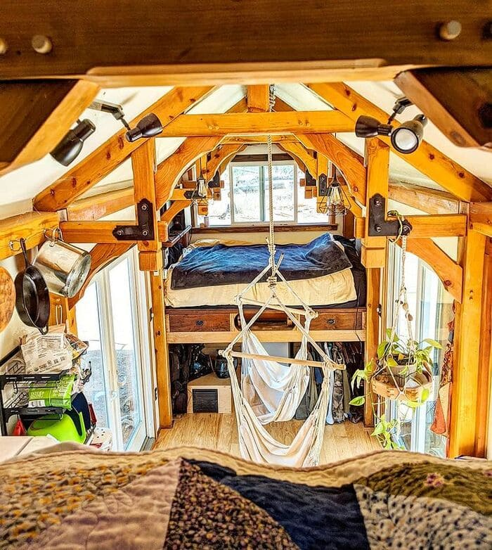 tiny home wild adventures 7 - Couple built tiny house entirely from scratch - even milling their own lumber