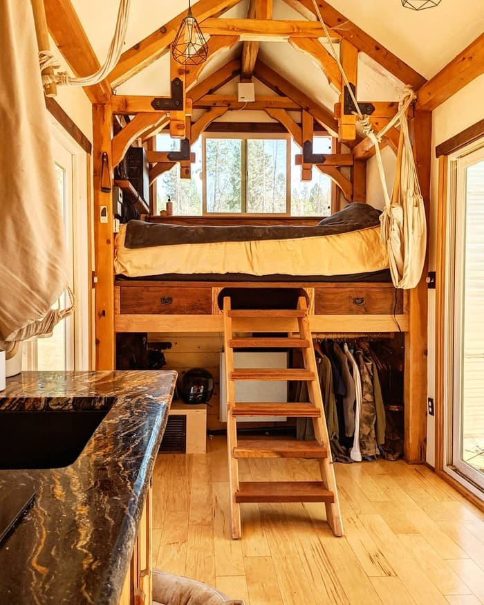 tiny home wild adventures 8 - Couple built tiny house entirely from scratch - even milling their own lumber