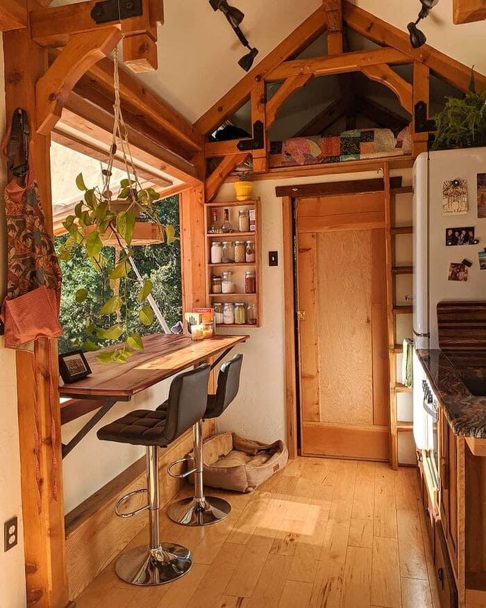 tiny home wild adventures 9 - Couple built tiny house entirely from scratch - even milling their own lumber