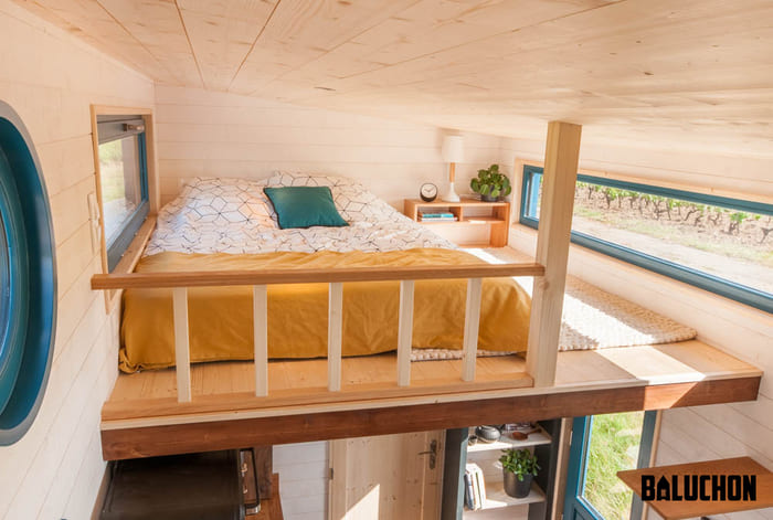 tiny house baluchon 10 - Stunning tiny house features inverted loft space with lounge upstairs and kids' room on main floor