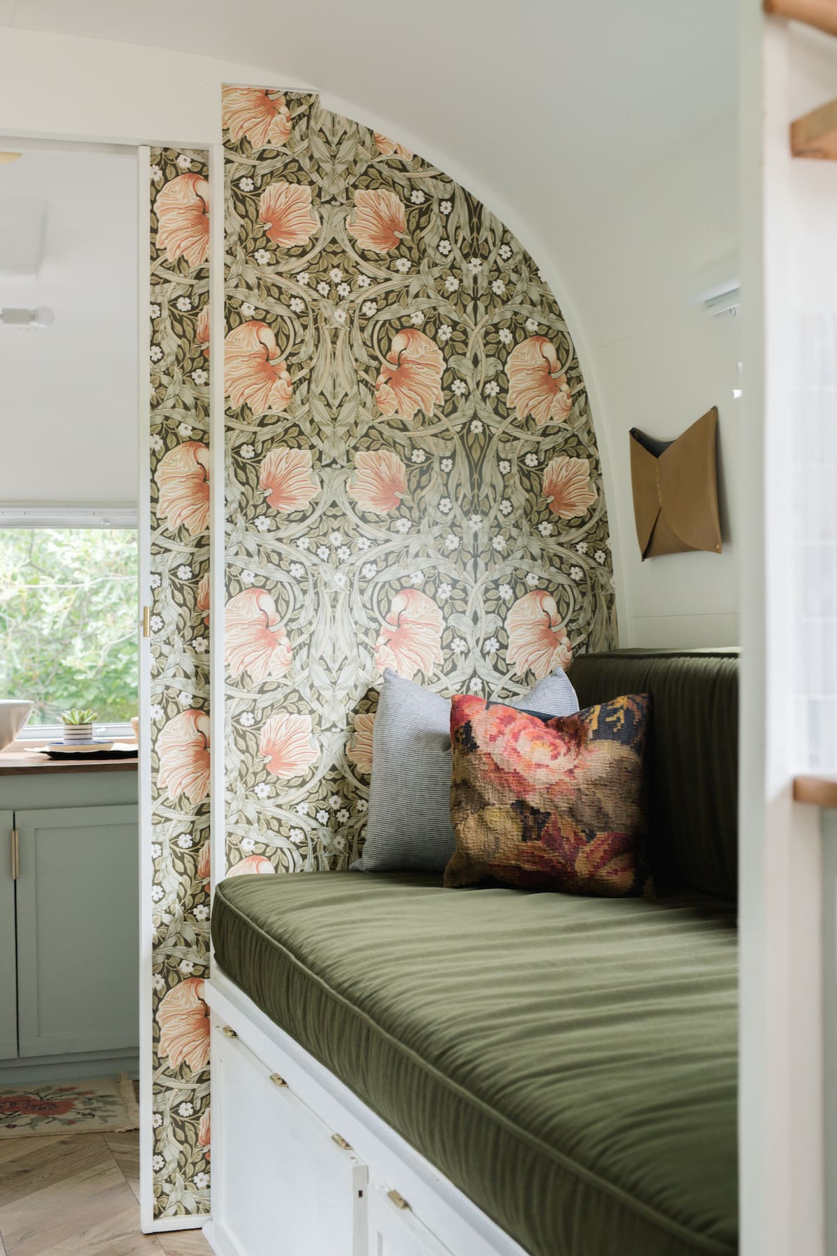 marjorie airstream 10 - This renovated Airstream trailer is all floral and boho-chic charm