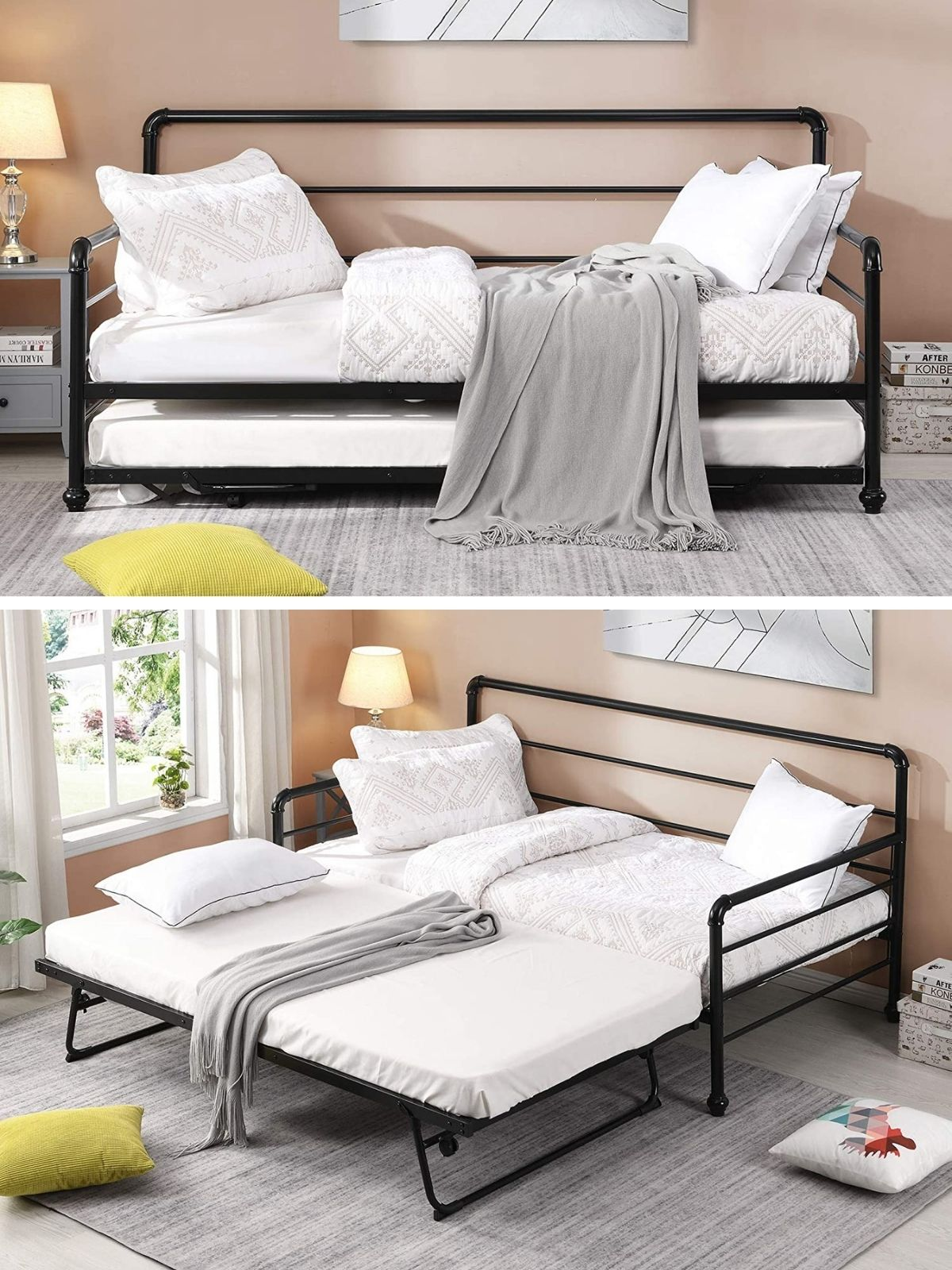 daybed black - 20 delightful daybeds that easily convert into comfortable beds