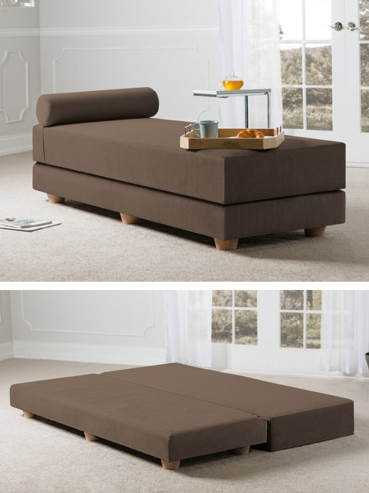 daybed brown - 20 delightful daybeds that easily convert into comfortable beds